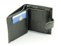 Porte-monnaie, porte-cartes, porte-billets noir pour homme