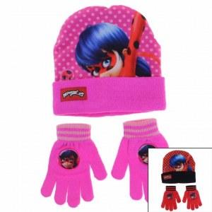 3x Bonnets et gants LadyBug