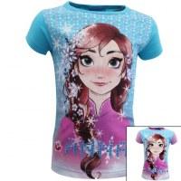 12x T-shirts manches courtes La Reine des Neiges du 2 au 8 ans