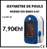Oxymetre de pouls Norme CE-ISO 80601-2-61