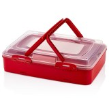 Herzberg Boîte de transport de pâtisseries à emporter à un niveau Rouge
