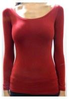 T-shirts Unis Manches Longues Femme