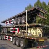 Semi-remorque routier plateaux porte conteneur de 40ft et 20ft avec deux essieux et trois essieux...