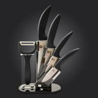Set du Couteau 100% céramique support en acrylique,Swiss collection