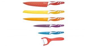 DESTOCKAGE Set de couteau Revêtement céramique Kitchen Line Swiss ( Inclus Couteau Pizz...)
