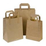 100 sacs en papier Kraft Marron 180/80/220 mm