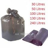 Sac poubelle 30 litres noirs à liens classiques ( rouleau de 35 sacs ) 40 microns
