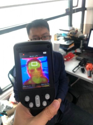 Thermomètres infrarouge visuel