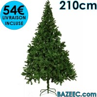 Arbre de Noël artificiel avec branches épaisses 210 cm LIVRAISON GRATUITE