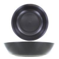Assiette à pâtes Noir mat 21 cm