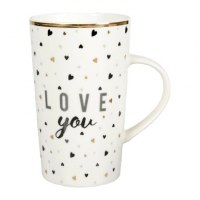 MUG PORCELAINE XL LOVE BLANC