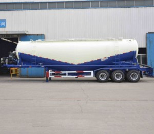 Semi-remorque pour le cocotte de ciment 3essieu ciment en varc transport