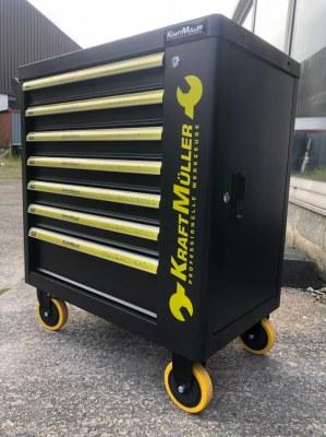 Servante d'atelier kraftmuller 7 tiroirs avec outillage