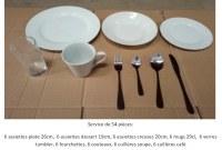 Service de table avec verres et couverts