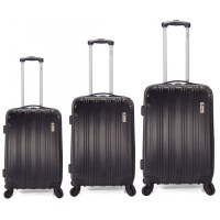 Set de 3 VALISES DE VOYAGE ABS - Trolley SET - 4 roues 360° -