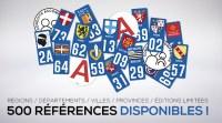 (BAISSE DE PRIX) DESTOCKAGE Stickers plaque immatriculation automobile + A