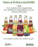 Jus de fruits et smoothies NFC ( Not From Concentrate ) - restent bien jusqu'à 25 C°
