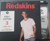 Lot 1500 Pièces T-Shirt REDSKINS® /3 DIVISIBLE