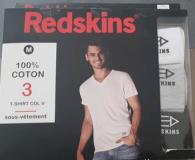Lot 1500 Pièces T-Shirt REDSKINS® /3 DIVISIBLE