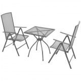 Table + 2 chaises ACIER