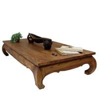 Table basse opium bois massif 100 x 200 cm- Modèles très rares-