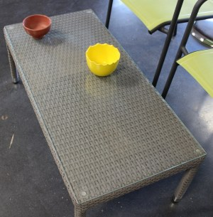 Table à café Salon Bas Deauville Gris de Fabrication Hédone Réf : CT04W3C7