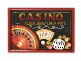 Tableau 3D relief déco américaine Las Vegas Poker