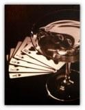 Tableau déco Poker Cocktail Las Vegas USA