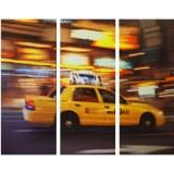 Tableau triptyque déco américaine Taxi NEW YORK USA