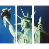 Tableau triptyque déco américaine statue de la liberté