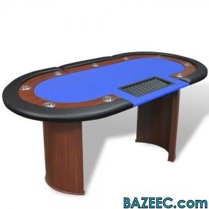 Table de poker pour 10 joueurs avec espace de croupier LIV GRT