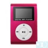 Elégant lecteur MP3 avec radio FM - 4 Go (noir, rouge, rose foncé )