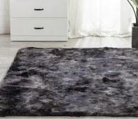 160x200 Grand Tapis Gris Foncé doux, épais et moelleux en peluche enfant salon lit chambre