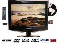TV HD LCD 13.3 pouces (33 cm) Combo DVD TNT