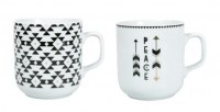 COFFRET 2 CHOPES PORCELAINE 25CL