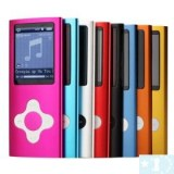 MusicTube 4 Gen MP3 Player-4GB- argent, rouge, noir
