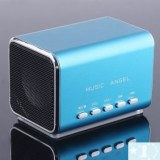 Mini haut-parleur Micro SD lecteur de musique / TF pour iPod portable- Bleu, vert