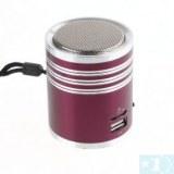 Mini haut-parleur Amplificateur Lecteur MP3 Micro SD TF USB Disk FM-Rouge- bleu