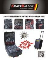 Mallette outils - 186 pièces KRAFTMULLER EN GROS