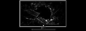 Pcs moniteurs à écran cassé