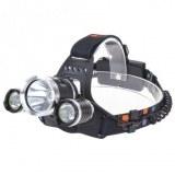Lampe frontale zoom 3x pour camping randonnée