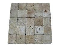 Travertin Classique 10x10 cm Commercial EN STOCK