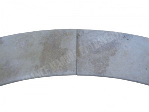 Travertin Beige Escalier Romain 3 cm Rayon 150 cm