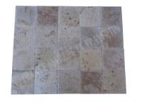 Travertin Classique 20x20 1,2 cm Brossé Commercial EN STOCK