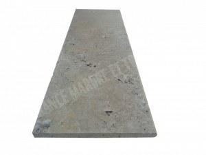 Travertin Beige Marche D'escalier 120x40 3 Arrondi Rustique EN STOCK