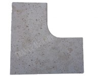 Travertin Classique Margelle Rentrant 61x61 3 cm EN STOCK