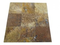 Travertin Jaune 40x40 1,2 cm Antique Rustique EN STOCK