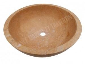 Travertin Jaune Vasque Model Bol EN STOCK