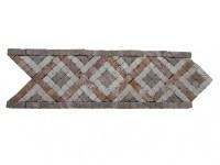 Travertin Mixte Mosaïque Frise 28,5x9 cm Antique EN STOCK