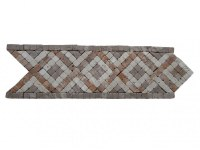 Travertin Mixte Mosaïque Frise 28,5x9 cm Antique EN STOCK